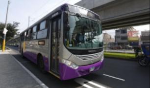 SJL: vecinos bloquean avenidas para impedir tránsito de buses del Corredor Morado