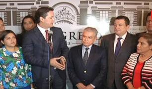 César Villanueva se reúne con Fuerza Popular y Frente Amplio
