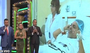 Porque Hoy es Sábado: Andrés Hurtado estuvo en vivo desde su cama en la clínica
