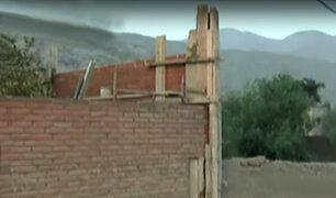 Chaclacayo: construyen muro en casa de Osmán Morote
