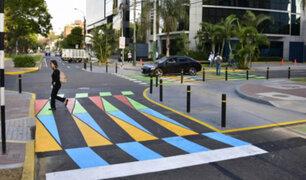 San Isidro: cruces peatonales artísticos generan polémica
