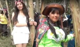 Día de la Tierra: 18 jóvenes se casan con árboles en Huancayo