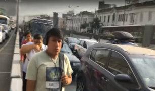 Centro de Lima: peatones arriesgan sus vidas ante caos vehicular