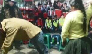 Cajamarca: ronderos castigan a hombre que golpeaba a su mujer