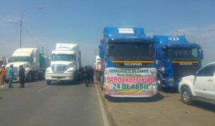 Trujillo: continúa la huelga de transportistas de carga pesada