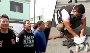 Pachacámac: capturan a peligrosa banda dedicada al robo de vehículos