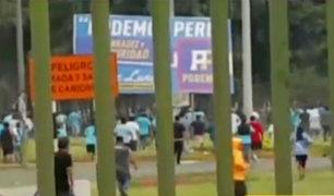 Ate: 'hinchas' de Universitario y Cristal desataron batalla campal