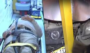 Rímac: taxista resulta herido tras chocar con semáforo