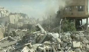 Siria: destruyen posiciones militares de Bashar Al-Assad