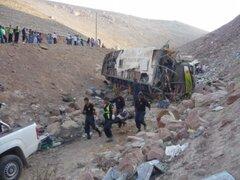 Áncash: 7 muertos y 15 heridos deja caída de bus interprovincial a abismo