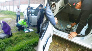 Huancavelica: incautan 32 paquetes de droga camuflados en parachoques de auto