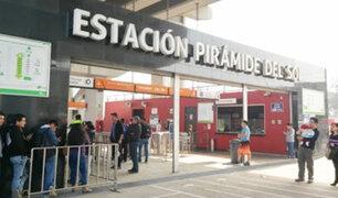 Metro de Lima: hombre cae a vías del tren en la estación Pirámide del Sol