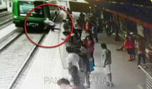 SJL: imágenes revelarían que hombre intentó suicidarse en vías de tren