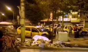 Los Olivos: taxista resultó herido tras chocar su vehículo