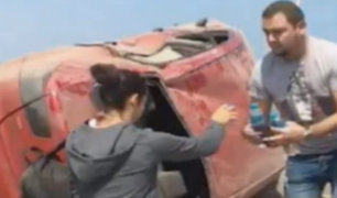 Paloma Fiuza sufre violento accidente de tránsito en Cañete