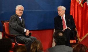 Chile: presidente Piñera fue sorprendido por temblor junto a Mario Vargas Llosa
