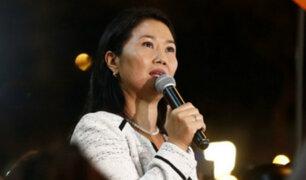 Keiko se presentó ante Subcomisión de Acusaciones Constitucionales