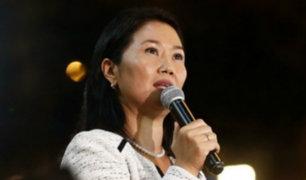 Keiko se muestra optimista tras presentación del Gabinete Villanueva ante el Congreso