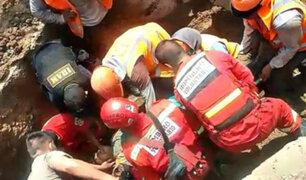 Trujillo: obrero salva de morir tras quedar sepultado en zanja