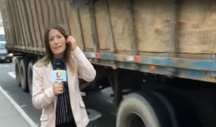 Reportera de Panamericana asegura haber sido acosada durante transmisión en vivo