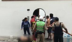Surquillo: incendio en vivienda deja una persona gravemente herida