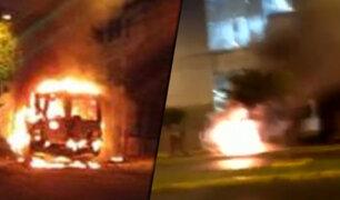 Centro de Lima: cúster de transporte público se incendió en la avenida Tacna