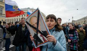 Rusia: más de 200 mil detenidos deja protestas contra el presidente Putin