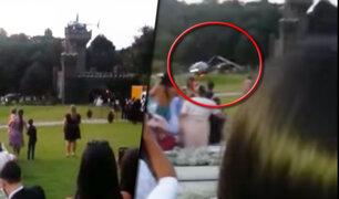 Brasil: novia se estrella en helicóptero, sobrevive al accidente y acude a su boda