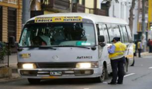 MML suspende flota de transporte 'Chosicano' por 120 días