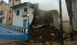 Cajamarca: antigua casona se desploma tras intensa lluvia en Chota
