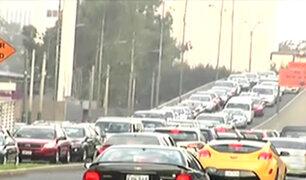 La Molina: se registra gran congestión vehicular en av. El Derby