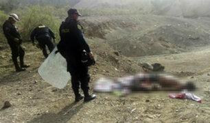 Manchay: hallan cuerpos de tres personas asesinadas a balazos en descampado