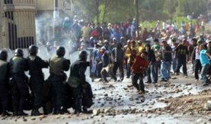 Arequipa: manifestantes marchan contra proyecto minero Tía María