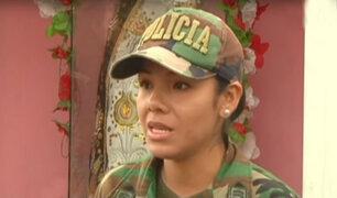 Madre policía que rescató a niña secuestrada en Satipo quedó conmovida por salud de la menor