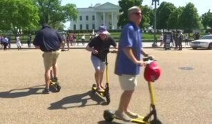 Novedad sobre ruedas: Scooters eléctricos atraen a cada vez más personas en Washington [VIDEO]