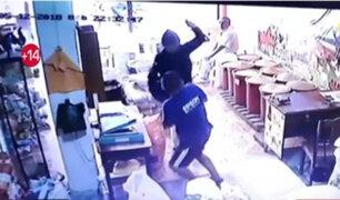 Asalto en Tocache: cliente intentó enfrentarse con ladrón armado