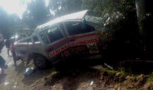 Ayacucho: cuatro muertos y varios heridos tras despiste de camioneta de serenazgo