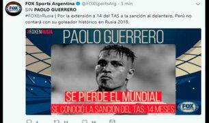 Paolo Guerrero no jugará en el Mundial: opiniones de la prensa internacional