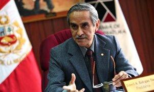 Presidente del PJ calificó como error de Foronda el contrato de sentenciada por terrorismo