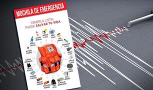 Sismos en el país: ¿qué debe contener una mochila de emergencias en pandemia?