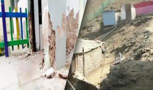 Mala: sismo deja daños en algunas viviendas y en un centro educativo