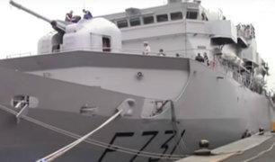 Imponente fragata de vigilancia francesa llegó al puerto del Callao
