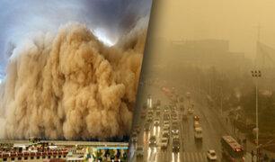 China: tormenta de arena cubre por completo una ciudad