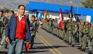 Presidente Vizcarra supervisa funcionamiento de carretera y colegio en Huancavelica