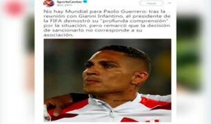 Paolo Guerrero: reacciones de la prensa internacional después de la reunión con Infantino
