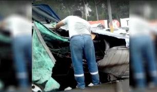SJM: triple choque deja seis heridos en la Panamericana Sur