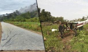 Huánuco: PNP destruye 31 pistas de aterrizaje utilizadas por narcotraficantes