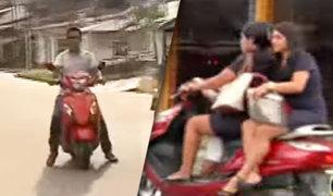 La mayoría de motociclistas en Iquitos no usan casco