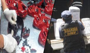 Callao: Dirandro incauta droga camuflada en máscaras que iban a ser llevadas a Europa