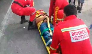 Chosica: auto atropella a transeúnte que se encontraba en vereda